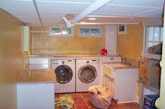 Basement Laundry Room - traditional - laundry room - new york - Kitchen Creations, LLC
