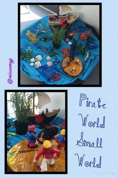 Our pirate small world (the dry one!) (missamyp)