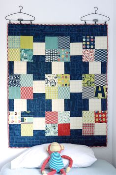 Quilt as Headboard (free pattern) Cosmo Cricket