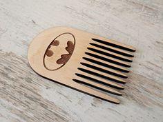Batman Beard Comb Personalized Wooden Comb by BigWoodiShop on Etsy