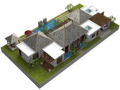 modern balinese villa - Google Search
