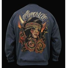 Mens 100% Cotton Crew Neck Sweatshirt America