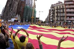 Cadena humana por la independencia de Cataluña
