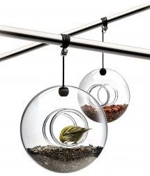 Bird Feeder by Eva Solo  571030  $49.00    Bird feeder in mouth-blown glass with accompanying hanger.