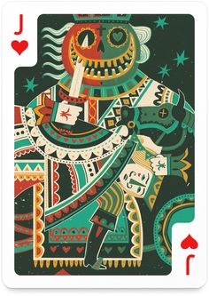 Jack of Hearts by Steve Simpson - http://playingarts.com/cards/steve-simpson/