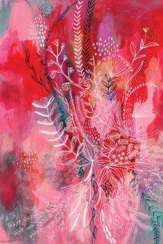 Art Floral, Art Rouge, Illustration Blume, Plant Drawing, Drawing Flowers, Guache, Red Art, Pink Art, Henri Matisse