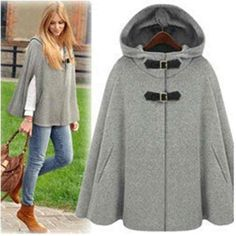 Free Shipping womens fashion hooded Cape coat shawl Cape coat female 201412233548-in Wool & Blends from Women's Clothing & Accessories on Aliexpress.com | Alibaba Group
