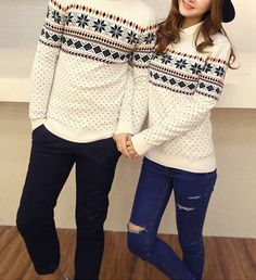 Couples Snowflake Sweater (Non-refundable) Matching Couple Outfits, Matching Couples, Cute Couples, Tie Dye Shirts, Cut Shirts, Couples Christmas Sweaters, Matching Christmas Sweaters, Boyfriend Girlfriend Shirts, One Direction Shirts