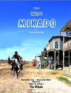 Cover Of The Piano Vocal Score Wild West Mikado New Complete Adaption