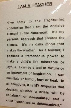 It hit me that my kids look to me as a role model. The Daily(ish) Teacher: Being a Young Teacher: A Pro/Con List It hit me that my kids look to me as a role model. The Daily(ish) Teacher: Being a Young Teacher: A Pro/Con List Teaching Quotes, Education Quotes For Teachers, Teaching Tips, Teacher Resources, Being A Teacher Quotes, Primary Education, Quotes About Teachers, We Are Teachers, Education System