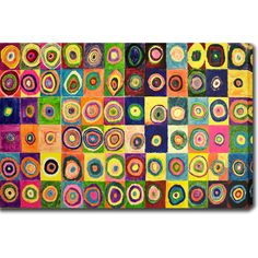 <li>Artist: Wassily Kandinsky</li>  <li>Title: Squares with Concentric Circles</li>  <li>Product type: Gallery-wrapped canvas art</li>