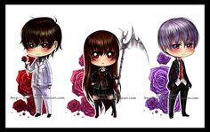 Kaname, Zero and Yuki.