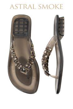 Astral Gel Pool Shoe - Smoke  Available from www.piarossini.com #PiaRossini #UltimatePoolShoe #Pool #Shoes #Sandal #Beach #Cruise #Comfort #Resort #Gel
