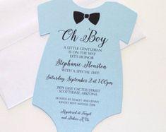 Baby Shower Onesie Invitation Glitter by EmbellishedPaperie