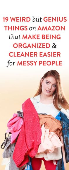 I consider myself an inherently clean and organized person — or at least I did until all my stuff was in storage and I was living out of a suitcase for three months. I then realized that I'm only clean because of products that help you organize your… Amazon Hacks, Amazon Gadgets, Amazon Deals, Messy People, Messy House, Amazon Beauty Products, Konmari Method, Organizing Your Home, Organising Tips