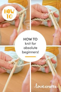 Follow this step-by-step tutorial on how to knit, for absolute beginners! | Learn with LoveCrafts.com