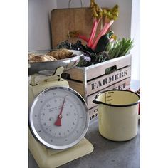 Retro Enamel Kitchen Scales from notonthehighstreet.com