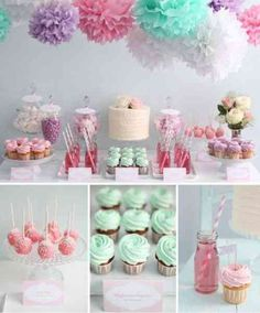 New Decor Table Anniversaire Baby Shower Ideas Baby Girl Shower Themes, Baby Shower Parties, Party Table Decorations, Birthday Decorations, Table Party, 40th Birthday Parties, 23 Birthday, Birthday Table, Partys