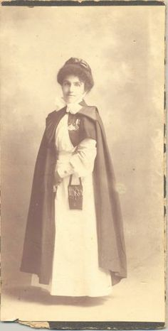 Boer War nurse, portrait, the inspiration for the WWI AANS uniform.