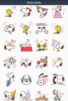 Snoopy & Belle LINE stickers #2