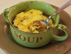 Slow cooker simple French onion soup, from 365 Days of Slow Cooking (via Soup Chick
