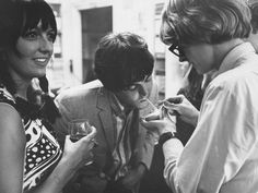 Sixties | Model, Maggie McGivern, Paul McCartney and Barry Miles at the Indica Gallery opening, 1966