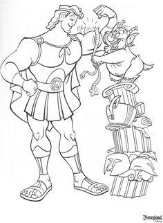 hercules | dancer5612004 | Flickr Cartoon Coloring Pages, Disney Coloring Pages, Coloring Pages To Print, Coloring Book Pages, Adult Coloring, Hercules Tattoo, Hercules Disney, Pixar, Disney Colors