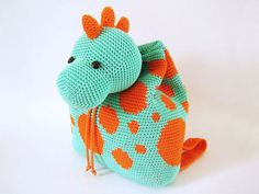 Dino Backpack Crochet Pattern