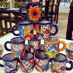 Talavera Mexican Coffee Mugs de Barrio Antiguo 7138802105