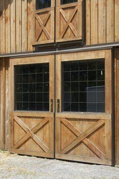 love the siding and doors