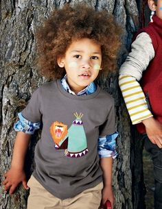 I've spotted this @BodenClothing Adventure Appliqué T-shirt Grey/Teepee