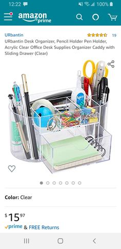 Pencil Holder, Pen Holders, Office Desk Supplies, Desk Organization, Dorm Room, Room Inspiration, Dormitory, Pencil Holders, Dorm Rooms