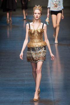 Suntuoso vestido corte para novia - Dolce Gabbana autumn-winter-2013
