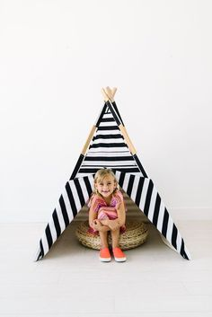 This teepee is made with 100% cotton adorable, high quality fabrics. Features include a 2 flap front opening, a back mesh window for added light, and natural wo