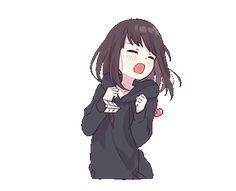 menhera chan Dibujos Anime Chibi, Cute Anime Chibi, Anime Girl Cute, Anime Neko, Kawaii Anime Girl, Otaku Anime, Anime Art Girl, Gifs Kawaii, Sweet Pictures