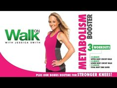 Walk On: Metabolism Booster with Jessica Smith - Walking, Strength Training + Strong Knees! - YouTube