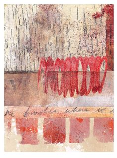 collage just using gelliplate printed monoprints brushwork-TA