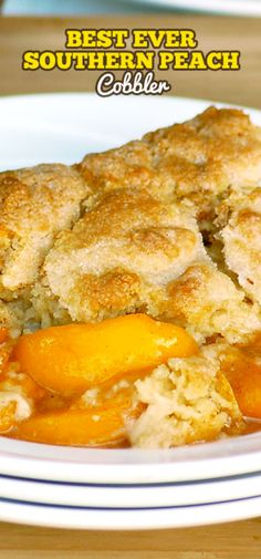 Best Ever Southern Peach Cobbler is the simple recipe of your dreams. Fresh sweet peaches baked in a spiced sugar mixture and topped with the most amazing cobbler topping. Sprinkled with sugar for a caramelized topping it is heaven on a plate. Mini Desserts, Easy Desserts, Delicious Desserts, Dessert Recipes, Yummy Food, Easy Peach Dessert, Homemade Peach Cobbler, Peach Cobbler Dump Cake, Southern Peach Cobbler