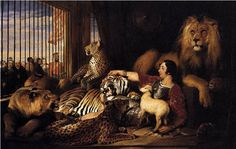 Sir Edwin Henry Landseer, Isaac van Amburgh and his Animals, 1839 Oil on canvas, Royal Collection, Windsor The Queen's Gallery, Oil On Canvas, Canvas Art, Pub Vintage, Vintage Circus, Fable, Oil Painting Reproductions, Art Graphique, Animal Paintings