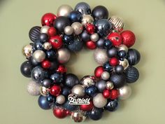Make a wreath with your teams colors.