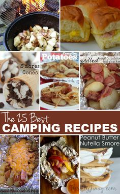 This collection of the 25 BEST camping recipes has everything from breakfast to lunch to dinner to late night around-the-campfire snacks.