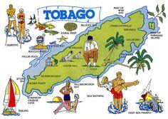 Tobago Map next trip med golf,Magdalena resort Trinidad And Tobago Map, Trinidad Caribbean, Paradise Island, Island Life, Vacation Spots, Tropical Vacations, Port Of Spain, Bay And Bay, Deep Sea Fishing