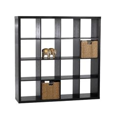 Add in baskets, vases, books, picture frames and many more decorative items. Features an MDF Frame with durable melamine finish. Storage Shelves, Shelving, Unique Shelves, Cube Unit, Cube Bookcase, Shelf Design, Interior Inspiration, Floating Shelves, Home Accessories