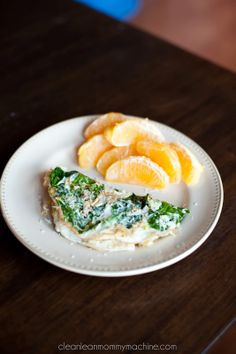 Healthy Spinach Egg White Omelette #glutenfree #breakfast
