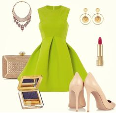 Love this lime green dress