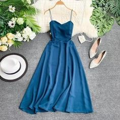 Elegant Party Dresses, Pretty Dresses, Beautiful Dresses, Dress Outfits, Fashion Dresses, Looks Chic, Summer Dresses For Women, Dress Backs, Cheap Dresses