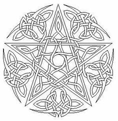 Celtic/Wiccan Coloring Pages Free Printable Witch Coloring Pages, Colouring Pics, Free Coloring Pages, Printable Coloring Pages, Coloring Books, Coloring Sheets, Celtic Symbols, Celtic Art, Celtic Knots