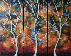 Tree painting with beautiful colors