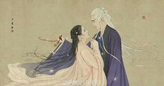 For paying your kindness. Peach Blossom Tree, Peach Blossoms, Blossom Trees, Eternal Love Drama, Anime Toon, China Art, Chinese Painting, Love Art, Fantasy Art