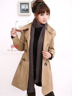 Tootless-Women Drawstring Plus-Size Single Breasted Baggy Overcoat